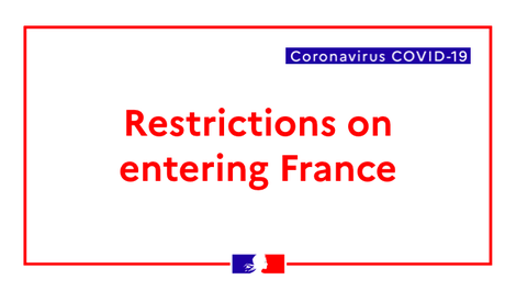 Coronavirus: restrictions on entering France